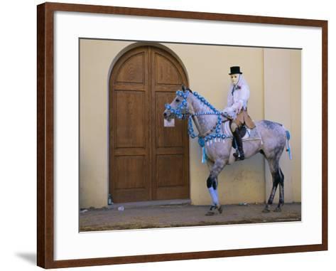 Oristano-La Santiglia Carnival, Sardinia, Italy, Europe-Bruno Morandi-Framed Art Print
