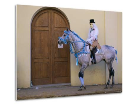 Oristano-La Santiglia Carnival, Sardinia, Italy, Europe-Bruno Morandi-Metal Print