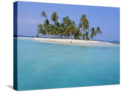 Tropical Island, Iles Los Grillos, Rio Sidra, San Blas Archipelago, Panama, Central America-Bruno Morandi-Stretched Canvas Print