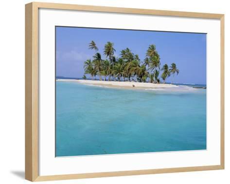 Tropical Island, Iles Los Grillos, Rio Sidra, San Blas Archipelago, Panama, Central America-Bruno Morandi-Framed Art Print