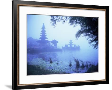 Hindu Temple of Bataun in the Mist, Island of Bali, Indonesia, Southeast Asia, Asia-Bruno Morandi-Framed Art Print