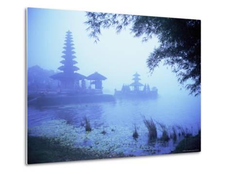 Hindu Temple of Bataun in the Mist, Island of Bali, Indonesia, Southeast Asia, Asia-Bruno Morandi-Metal Print