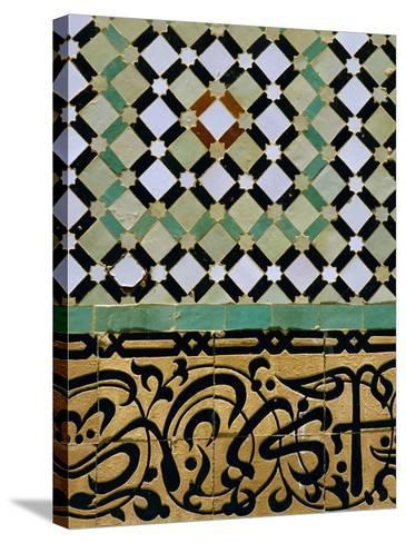 Tile Detail, Bou Inania Medersa, Meknes, Marocco, North Africa-Bruno Morandi-Stretched Canvas Print