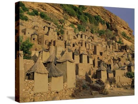 Village of Banani, Sanga (Sangha) Region, Bandiagara Escarpment, Dogon Region, Mali, Africa-Bruno Morandi-Stretched Canvas Print