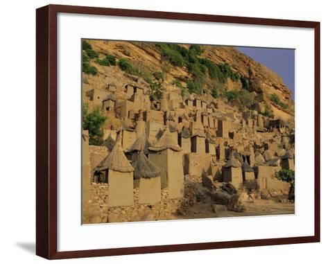 Village of Banani, Sanga (Sangha) Region, Bandiagara Escarpment, Dogon Region, Mali, Africa-Bruno Morandi-Framed Art Print