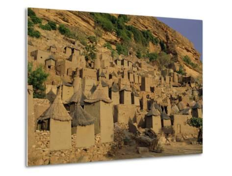 Village of Banani, Sanga (Sangha) Region, Bandiagara Escarpment, Dogon Region, Mali, Africa-Bruno Morandi-Metal Print