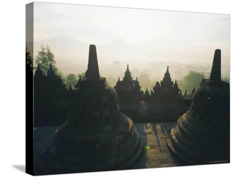 Borobudur, Java, Indonesia-J P De Manne-Stretched Canvas Print