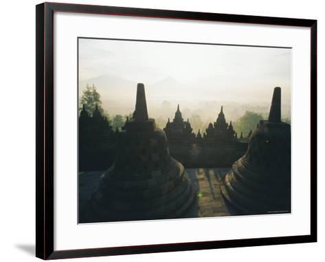 Borobudur, Java, Indonesia-J P De Manne-Framed Art Print