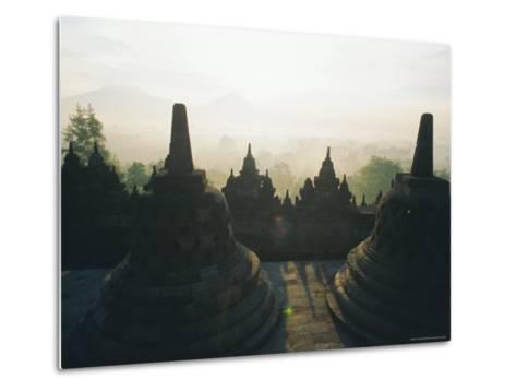 Borobudur, Java, Indonesia-J P De Manne-Metal Print