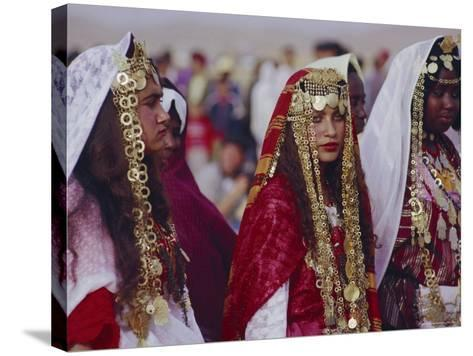 Traditional Berber Wedding, Tataouine Oasis, Tunisia, North Africa-J P De Manne-Stretched Canvas Print
