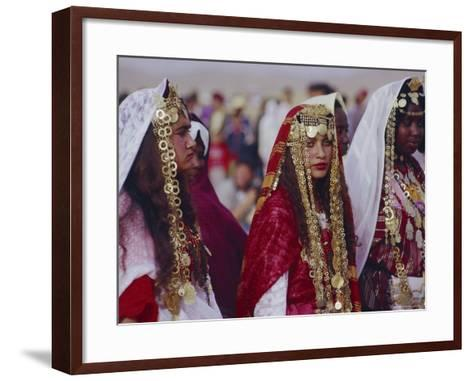 Traditional Berber Wedding, Tataouine Oasis, Tunisia, North Africa-J P De Manne-Framed Art Print