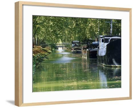 Brienne Canal, Toulouse, Haute-Garonne, Midi-Pyrenees, France, Europe--Framed Art Print