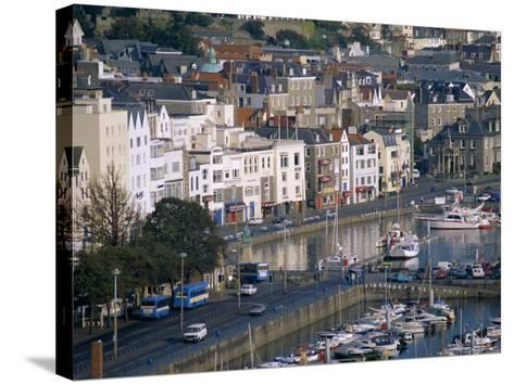 View from Fort George, Saint Peter Port, Guernsey, Channel Islands, United Kingdom, Europe-J P De Manne-Stretched Canvas Print