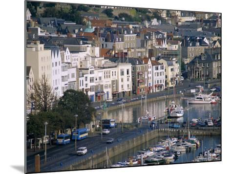 View from Fort George, Saint Peter Port, Guernsey, Channel Islands, United Kingdom, Europe-J P De Manne-Mounted Photographic Print