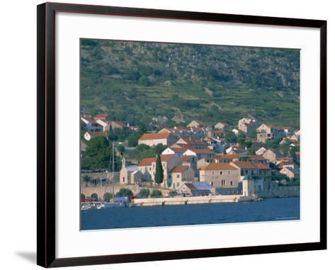 Bol Village, Brac Island, Dalmatia, Dalmatian Coast, Adriatic, Croatia, Europe-J P De Manne-Framed Art Print
