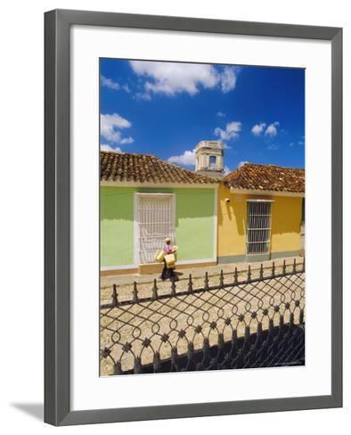 Main Square, Trinidad, Sancti Spirtus Region, Cuba-J P De Manne-Framed Art Print
