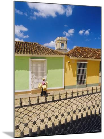 Main Square, Trinidad, Sancti Spirtus Region, Cuba-J P De Manne-Mounted Photographic Print
