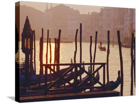 Sunset, the Grand Canal Near the Rialto Bridge, Venice, Veneto, Italy-J P De Manne-Stretched Canvas Print