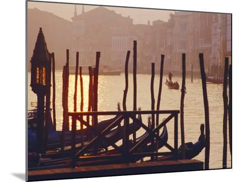 Sunset, the Grand Canal Near the Rialto Bridge, Venice, Veneto, Italy-J P De Manne-Mounted Photographic Print