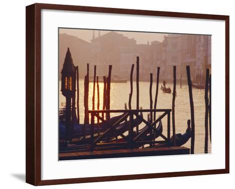 Sunset, the Grand Canal Near the Rialto Bridge, Venice, Veneto, Italy-J P De Manne-Framed Art Print