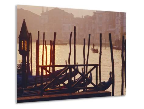 Sunset, the Grand Canal Near the Rialto Bridge, Venice, Veneto, Italy-J P De Manne-Metal Print