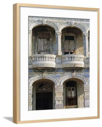 Colonial Facade, El Malecon, Havana, Cuba-J P De Manne-Framed Art Print