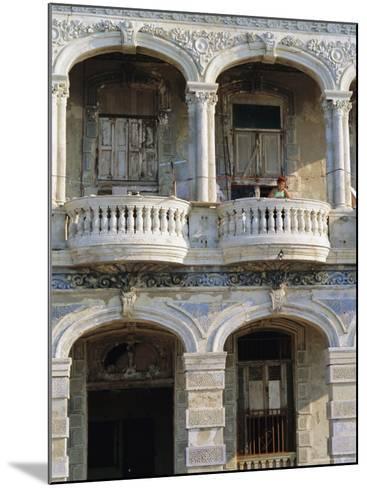 Colonial Facade, El Malecon, Havana, Cuba-J P De Manne-Mounted Photographic Print