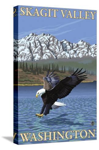 Bald Eagle Diving, Skagit Valley, Washington-Lantern Press-Stretched Canvas Print