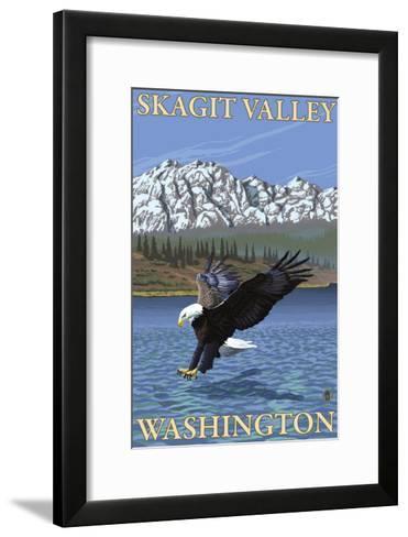 Bald Eagle Diving, Skagit Valley, Washington-Lantern Press-Framed Art Print
