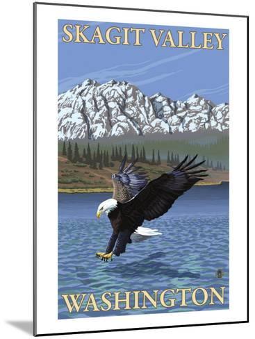 Bald Eagle Diving, Skagit Valley, Washington-Lantern Press-Mounted Art Print