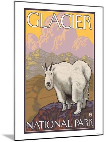 Mountain Goat, Glacier National Park, Montana-Lantern Press-Mounted Art Print