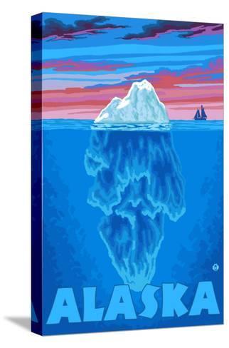Iceberg, Alaska-Lantern Press-Stretched Canvas Print