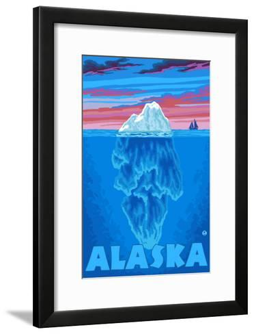 Iceberg, Alaska-Lantern Press-Framed Art Print