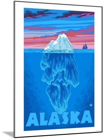 Iceberg, Alaska-Lantern Press-Mounted Art Print