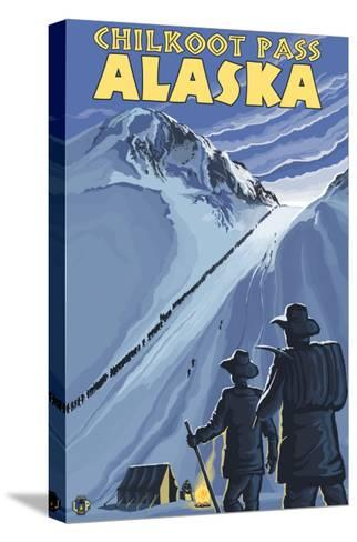 Chilkoot Pass, Alaska Gold Miners-Lantern Press-Stretched Canvas Print