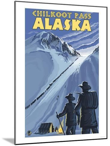 Chilkoot Pass, Alaska Gold Miners-Lantern Press-Mounted Art Print
