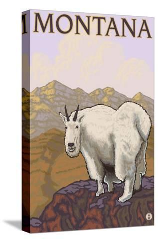 Mountain Goat, Montana-Lantern Press-Stretched Canvas Print