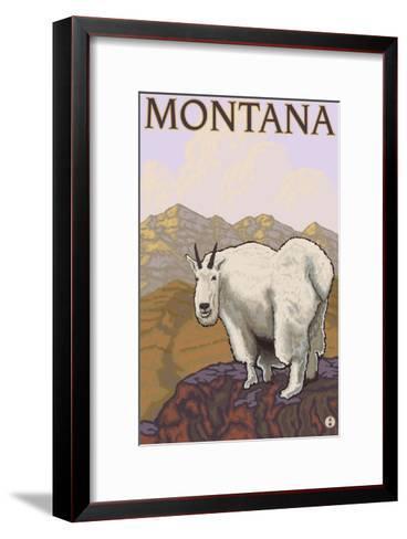 Mountain Goat, Montana-Lantern Press-Framed Art Print