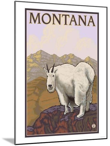 Mountain Goat, Montana-Lantern Press-Mounted Art Print