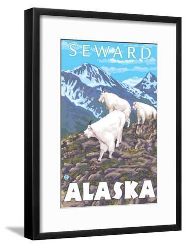 Mountain Goats Scene, Seward, Alaska-Lantern Press-Framed Art Print