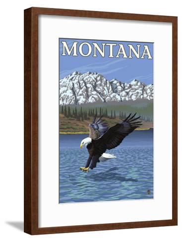 Bald Eagle Diving, Montana-Lantern Press-Framed Art Print
