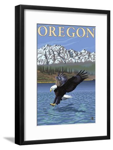Bald Eagle Diving, Oregon-Lantern Press-Framed Art Print