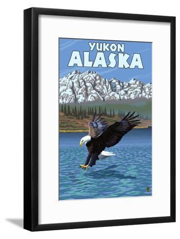Bald Eagle Diving, Yukon, Alaska-Lantern Press-Framed Art Print