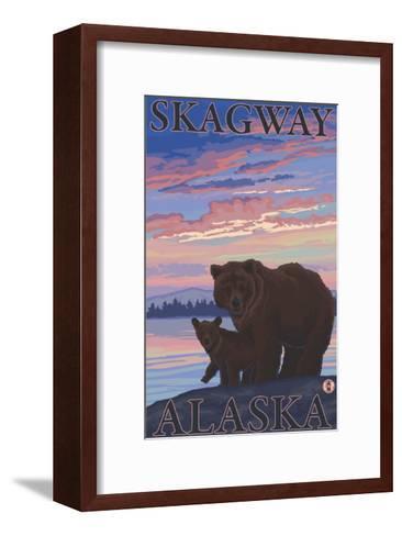 Bear and Cub, Skagway, Alaska-Lantern Press-Framed Art Print