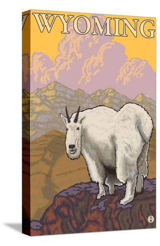 Mountain Goat, Wyoming-Lantern Press-Stretched Canvas Print