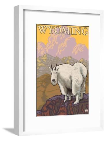 Mountain Goat, Wyoming-Lantern Press-Framed Art Print