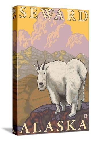 Mountain Goat, Seward, Alaska-Lantern Press-Stretched Canvas Print