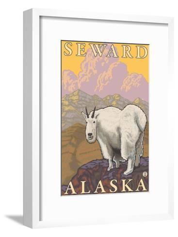 Mountain Goat, Seward, Alaska-Lantern Press-Framed Art Print
