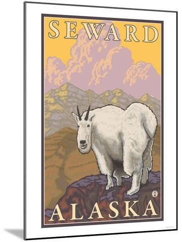 Mountain Goat, Seward, Alaska-Lantern Press-Mounted Art Print