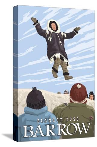 Alaska Blanket Toss, Barrow, Alaska-Lantern Press-Stretched Canvas Print